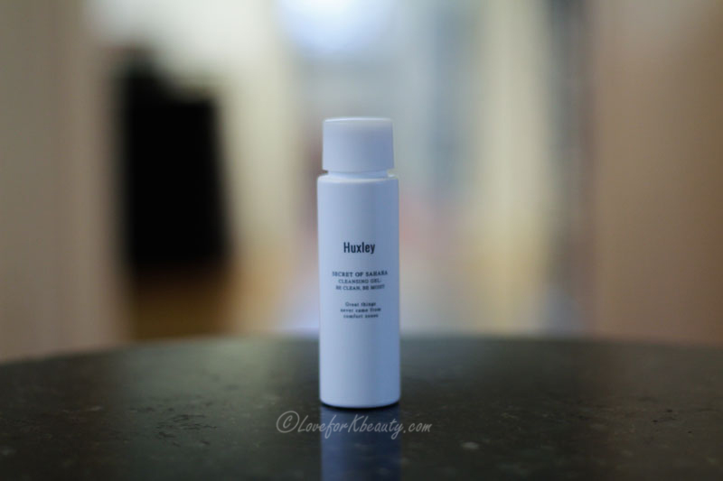 Huxley secret of Sahara cleansing gel be clean be moist