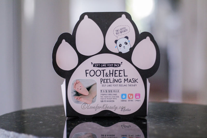 Esfolio feet and heel peeling mask
