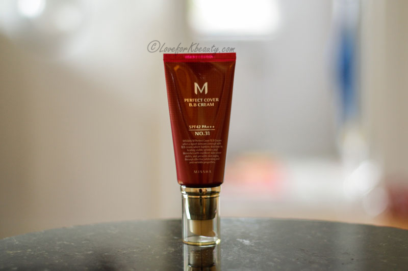 Missha perfect cover BB cream in 31