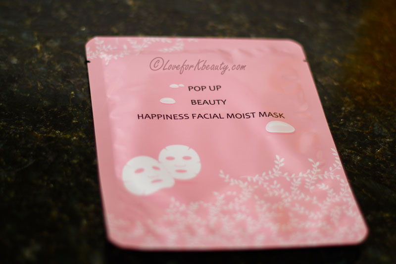 Pop up beauty happiness moisture mask
