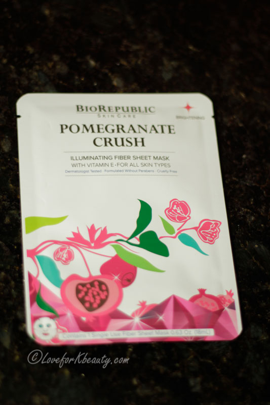 on Biorepublica Pomegranate crush illuminating sheet mask