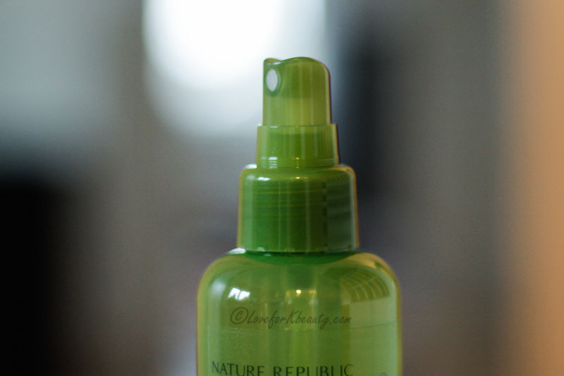Nature republic aloe soothing gel mist