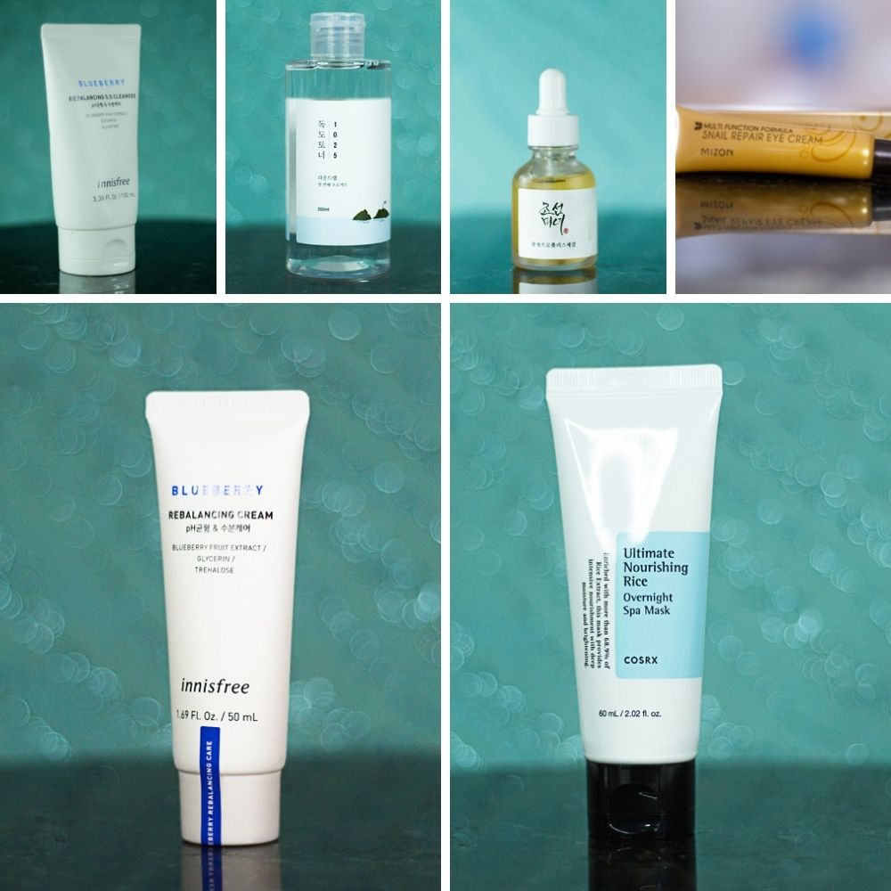 Before and after Korean skincare